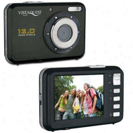 Vistaquest Vq-1200 Black 12mp Digital Cam