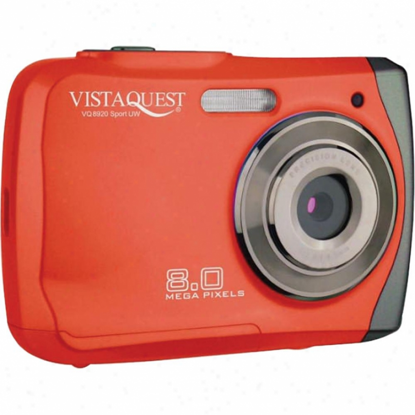 Vistaquest Vq-8920 Sport Red 8mp Uw Cam