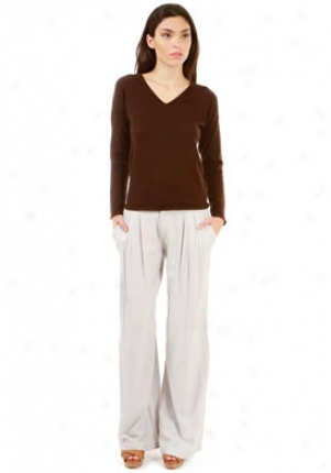 388 California Cashmere Brown Cashmere Sweater Wtp-202003-br-xs