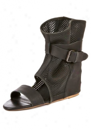 8020 Molly Blzck Mesh Ankle Wrap Sandals Molly-blkmesh-8.5