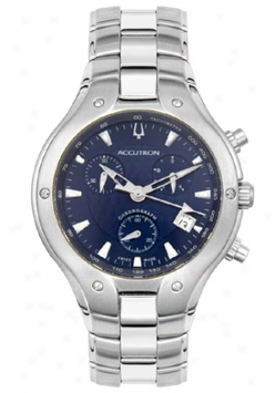 Accutron By Bulova Men's Swiss Stainless Steel Chronograp h26b46