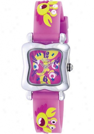Activa Juniors Crab Design Pink Rubber Sv625-003