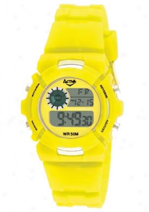 Activa Midsize Digital Multi-function Yellow Plastic Ad017 -005