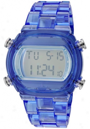 Adidas Candy Multi-function Silver Digital Dial Blue Plastic Adh6507
