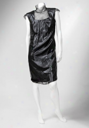 Alberta Ferretti Black Tulle Laminated Dress Dr-a04615151-bk-42