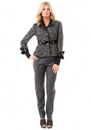 Alberta Ferretti Black Tweed With Lurex Thrda Jacket St-a250266-mul-42