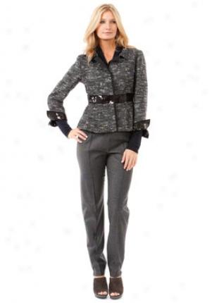 Alberta Ferretti Black Tweed With Lurex Thrda Jacket St-a250266-mul-42