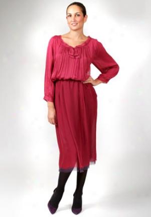 Alberta Ferretti Fuchsia Logn Silk Skirt Wbt-v013051-fux-42