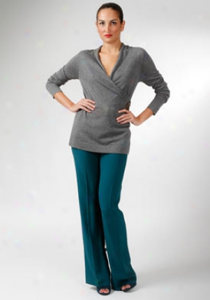 Alberta Ferretti Grey Long Sleeves Top Wtp-a09236606-gr46