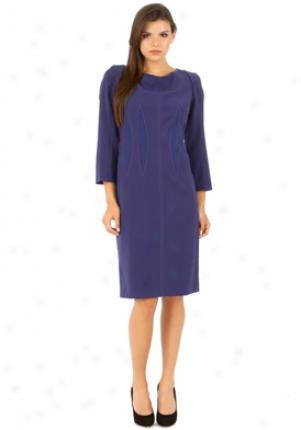 Alberta Ferretti Purple Detailed Dress Dr-v041166-pur-46