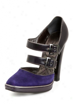 Alberta Ferretti Purple Leather And Suede Pumps A60468010-pu-37