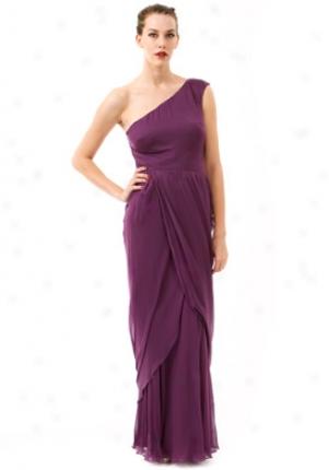 Alberta Ferretti Purple Long Sikl Chiffon Prepare Dra0460115pur44