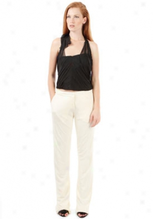 Alberta Ferr3tti White Slight Pants Wbt-a03080122-wh44
