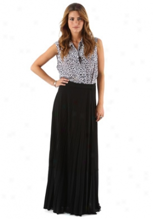 A.l.c. Black Long Pleated Skirt Wbt-368jc-black-s