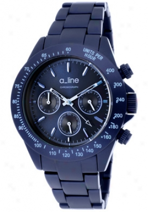 A_line Women's Amore Chronograph Navy Blue Dial Navy Blue Aluminum 20050-nb