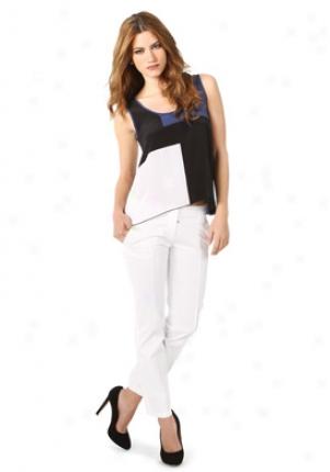 Alisha Levine Navy Silk Top Wtp-su0603i-navy-p