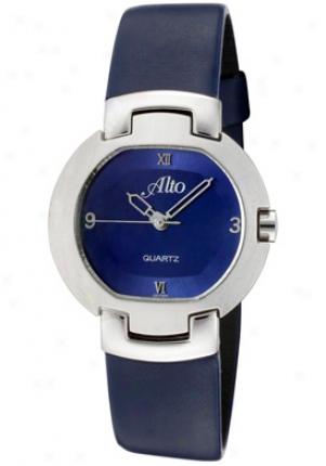 Alto Women'd Blue Dial Blue Genuine Leather 70371