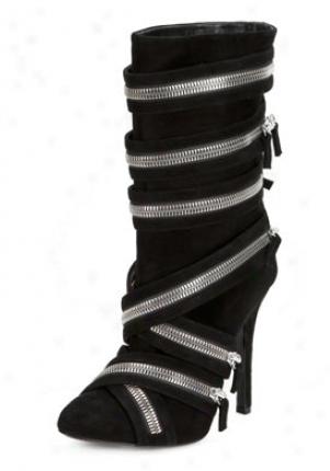 Balmain For Giuseppe Zanotti Black Suede Boots Ni9903uma-blk-36.5