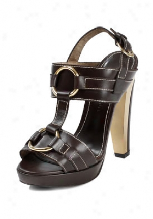 Barbara Bui Brown High Heel Leather Sandals P5340va-tdm-41