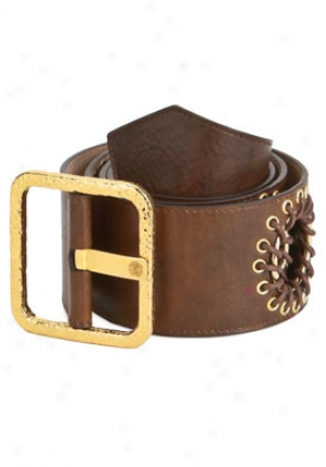 Barbara Bui Brown Leather Belt Be-id8b26pvdb42