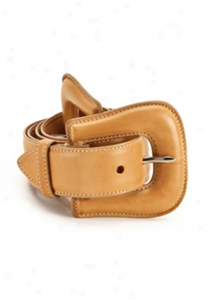 Barbara Bui Light Brown Lrather Belt Be-p6910bs-br95