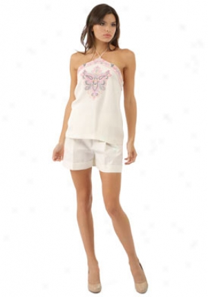 Barbara Bui Pure Embroidered Top Wtp-p1415sdg-ec38