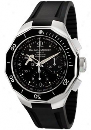 Baume & Mercier Men's Riviera Automatic Chronograph Black Rubber Moa08723