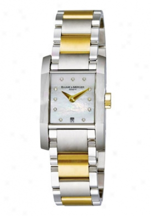Baume & Mercier Women's Diamant Pair Temper Stainless Steel Diamond Dial 8738