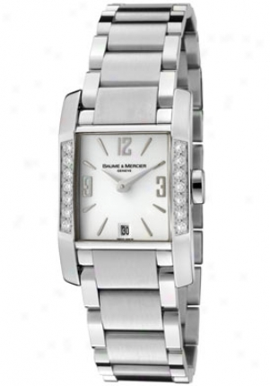Baume & Mercier Women's Diamant White Diamond Glittery Wnite Djal Stainless Steel Moa08739