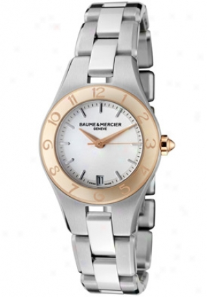 Baume & Mercier Womens Linea Light Silver Dial Stainless Steel Moa10014