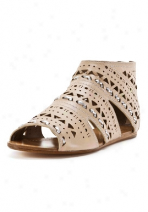 Belle Light Brown Leather Sandals 6487-nude-9.5