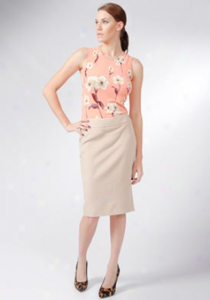 Blumarine Beige Pencil Skirt Wbt-1536-beige-42