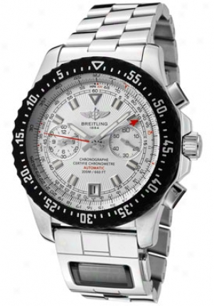 Breitling Men's Professional Automatic Mechanical Chrono /quartz Silver Dial Stainless Steel A8017412/b999