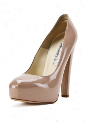 Brian Atwood Nude Patent Leather Pumps Power--140van-nu-38.5