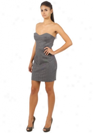 Brian Reyes Grey Top Stitched Corset Dress Dr-f9-3112-grey-6