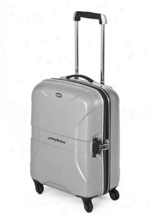 Bric's Silver Lightweight Hardside Pininfarina 4 Wheel Carry On Trolley Bp114479.021