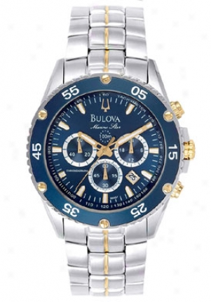 Bulova Men's Navy Syar Chronograph 98h37