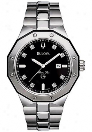 Bulova Men's Marine StarD iamond Stainless Steel 98d103