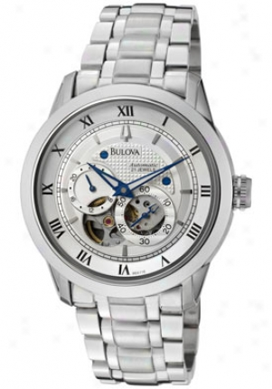 Bulova Men�s Bva Series 120 Automatic Mechanical Chronograph Stainless Steel 96a118
