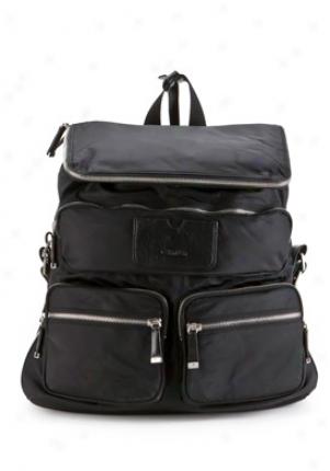 Calvin Klein Black Nylon Bafkpack Cchcj016-blk