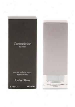 Calvin Klein Contradiction Eau De Toilette Twig 3.4 Oz Contradiction-me-3.4
