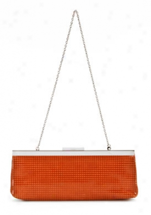 Calvin Klein Coral Suede Sequin Detailed Clutch Cchdj050-coral