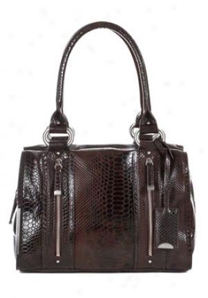 Calvin Klein Exotica Aubudn Snakeskin Print Shoulder Bag Cchbj055-aub