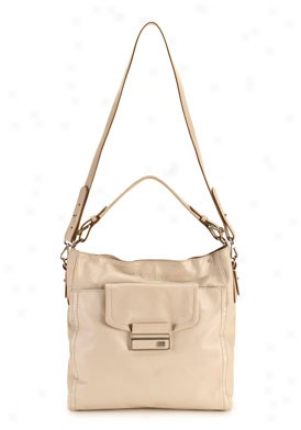 Calvin Klein Stone Beige Faxu Leather Shoulder Bag Chbln0753/stnbeige