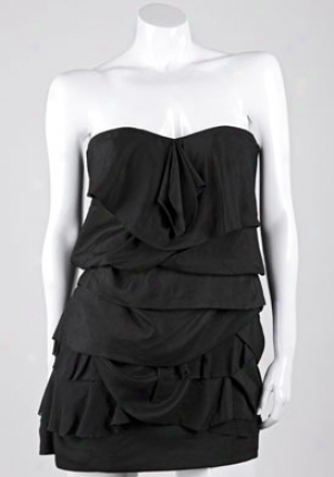 Camilla And Marc Black Strapless Dress Drmd1054dblk-4