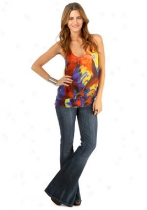 Camilla Multicolor Silk Top Wtp-ibs1p1f-i-redml