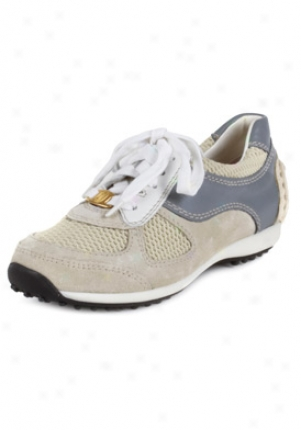Car Shoe Children's Cream And Grey Suede Sneakers Kbe0966of-arbn-28