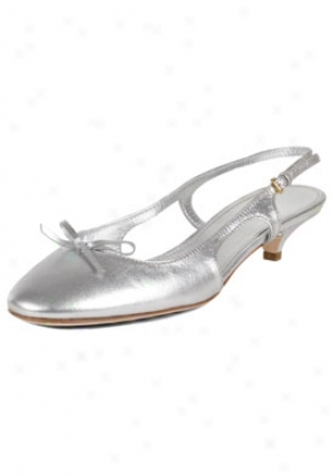 Car Shoe Silber Metallic Leather Slingback Pumps Kdj56a4sj-argent-36