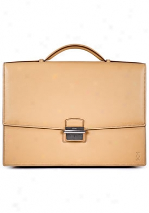 Cartier Midsize Pasha De Cartier Beige Leather Briefcase L1001160