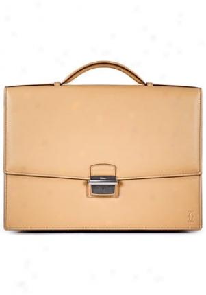 Cartier Midsize Pasha De Cartier Beige Leather Briefcase L1001160